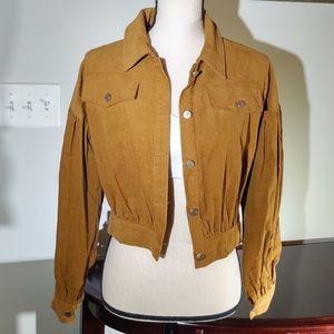 Corduroy cropped jacket